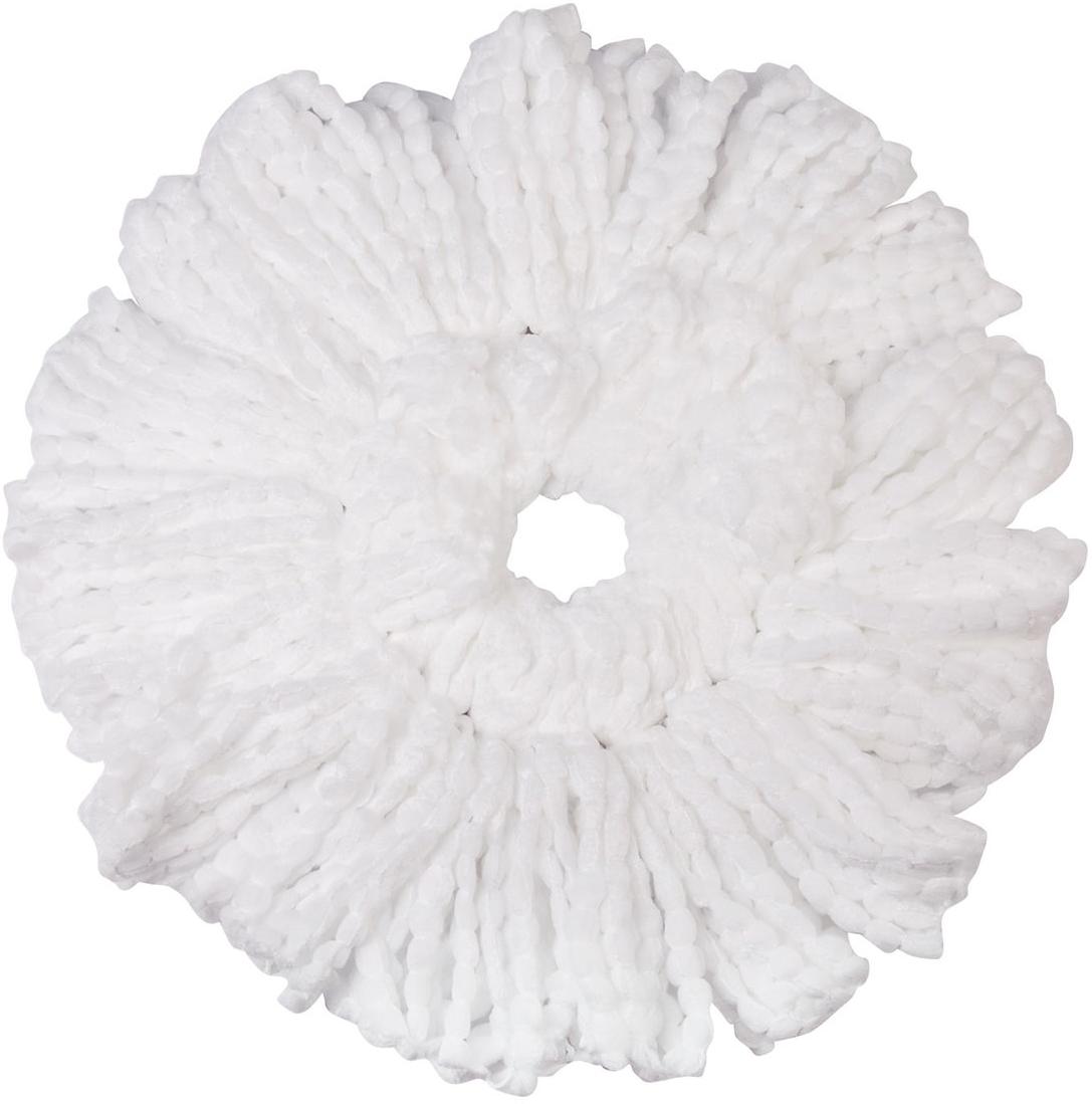 Насадка для швабры Лайма Моп, цвет: белый, диаметр 16 см603626Круглая насадка с длинным ворсом Лайма предназначена для проведения влажной уборки. Используется со шваброй из набора для уборки. Изготовлена из микрофибры, крепится к держателю швабры с помощью резиновой полоски на обратной стороне. Для швабры-рамки Лайма Бюджет.