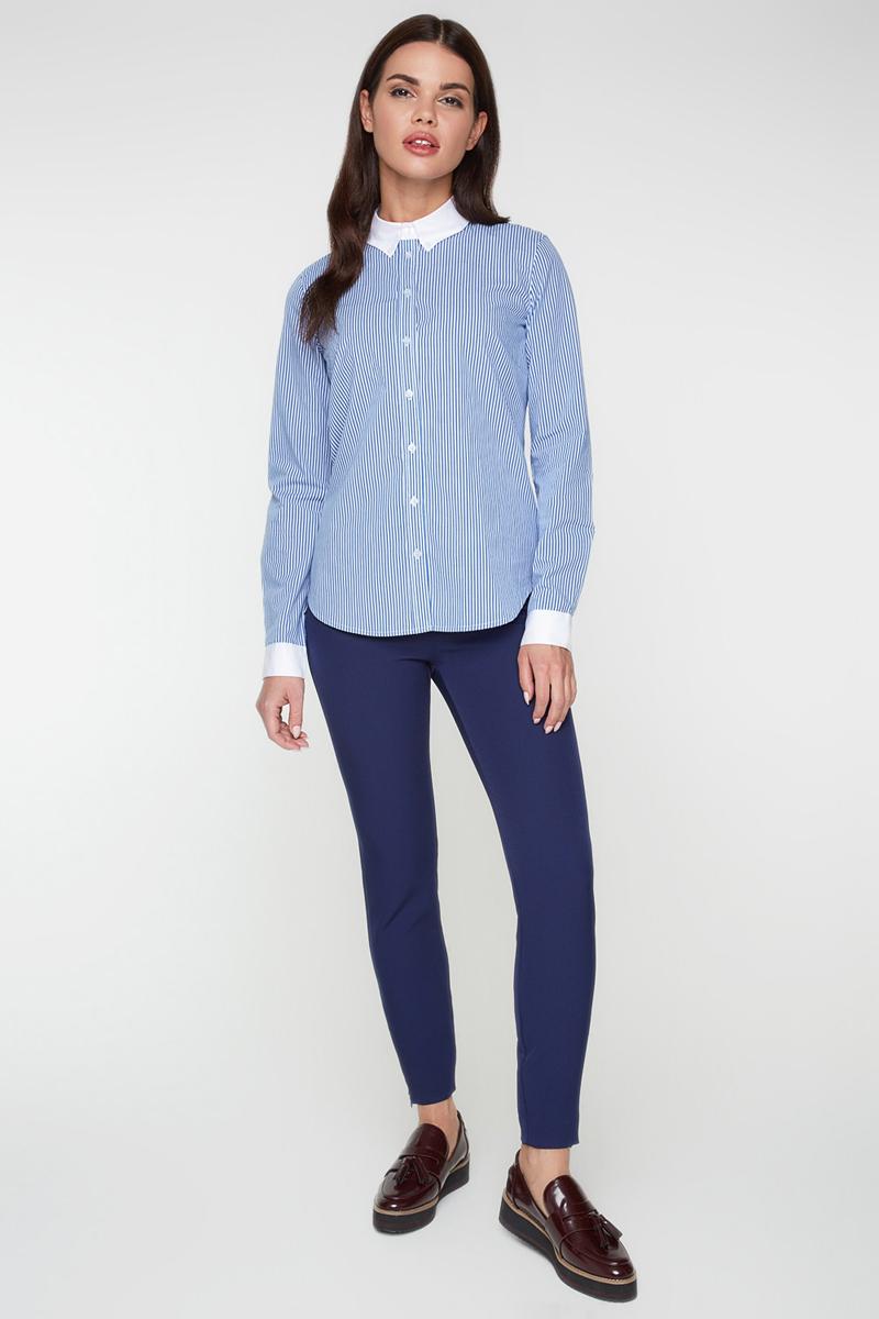 Блузка женская Bestia Wabbag_b, цвет: синий. 40010260005_500. Размер 50 размерная сетка bestia