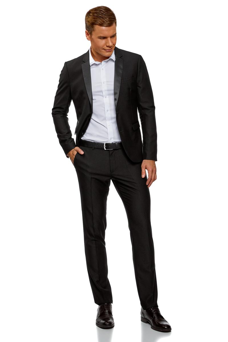 Пиджак мужской oodji Lab, цвет: черный. 2L420212M/47307N/2900N. Размер 54 (54-182)