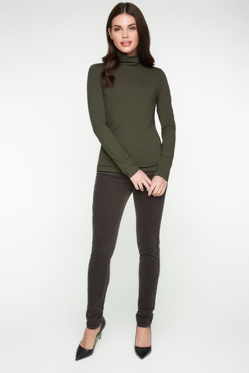 Водолазка женская Bestia Collage_b, цвет: темно-зеленый. 40010100003_2400. Размер 52 размерная сетка bestia