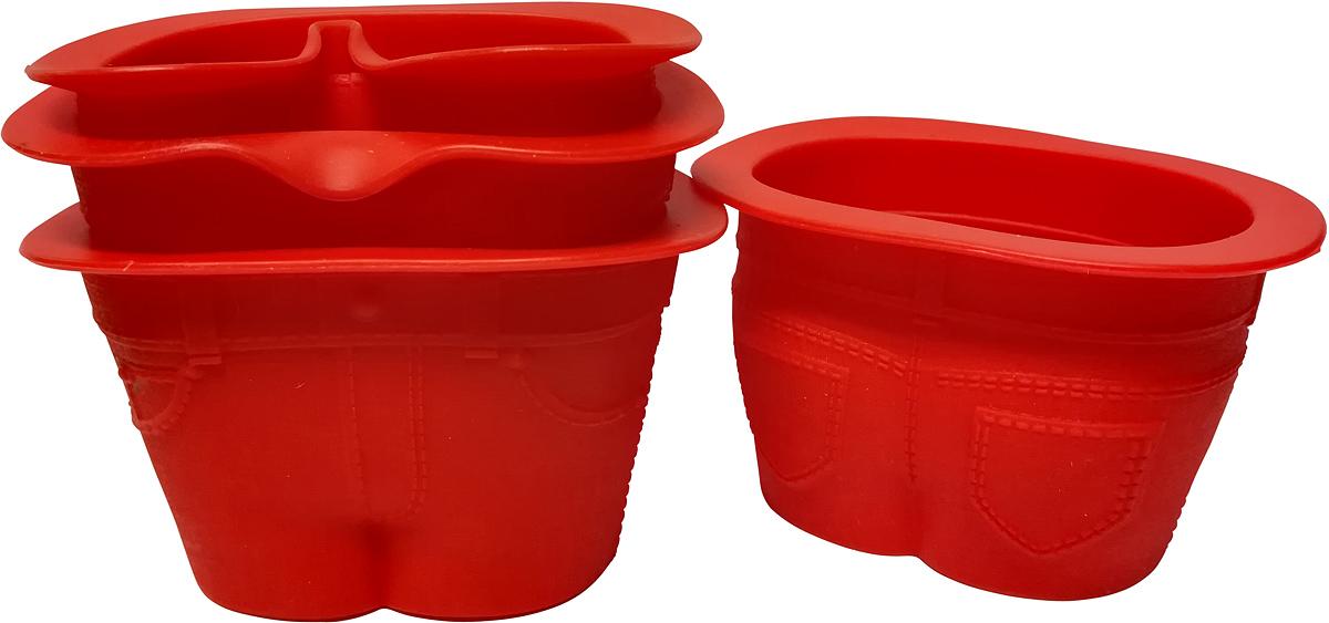 Набор форм для кексов FidgetGo Джинсы, цвет: красный, 4 шт2212345678125В чем вы обычно выпекаете кексы? Неужели, в кексницах? Прошлый век! Сегодня вкусные и красивые кексы пекут в джинсах. Не пугайтесь, не нужно подвергать ваши любимые джинсы резке и шитью. Достаточно приобрести силиконовые формочки FidgetGo. Эти эксклюзивные формочки для выпечки выполнены в виде небольших джинсовых штанишек. Формочки изготовлены из высококачественного эластичного термоустойчивого силикона, выдерживающего температуру от -40°С до +230°С.