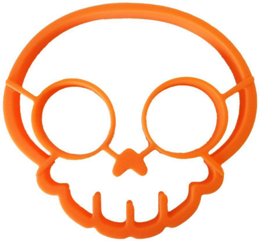 Форма для яичницы FidgetGo Череп, цвет: оранжевый, 14 х 13 х 1,7 см2212345678983Начните утро своего ребенка с веселого завтрака. Ваши дети будут снова и снова ждать его с нетерпением.Форма из силикона для яиц FidgetGo Череп сделает ваш завтрак удивительным и вызовет аппетит ребенка, чтобы позавтракать.Ее легко снимать и она не будут царапать вашу сковороду.Силиконовую форму легко мыть и она прослужит долго, не деформируясь.Промыть перед первым использованием.