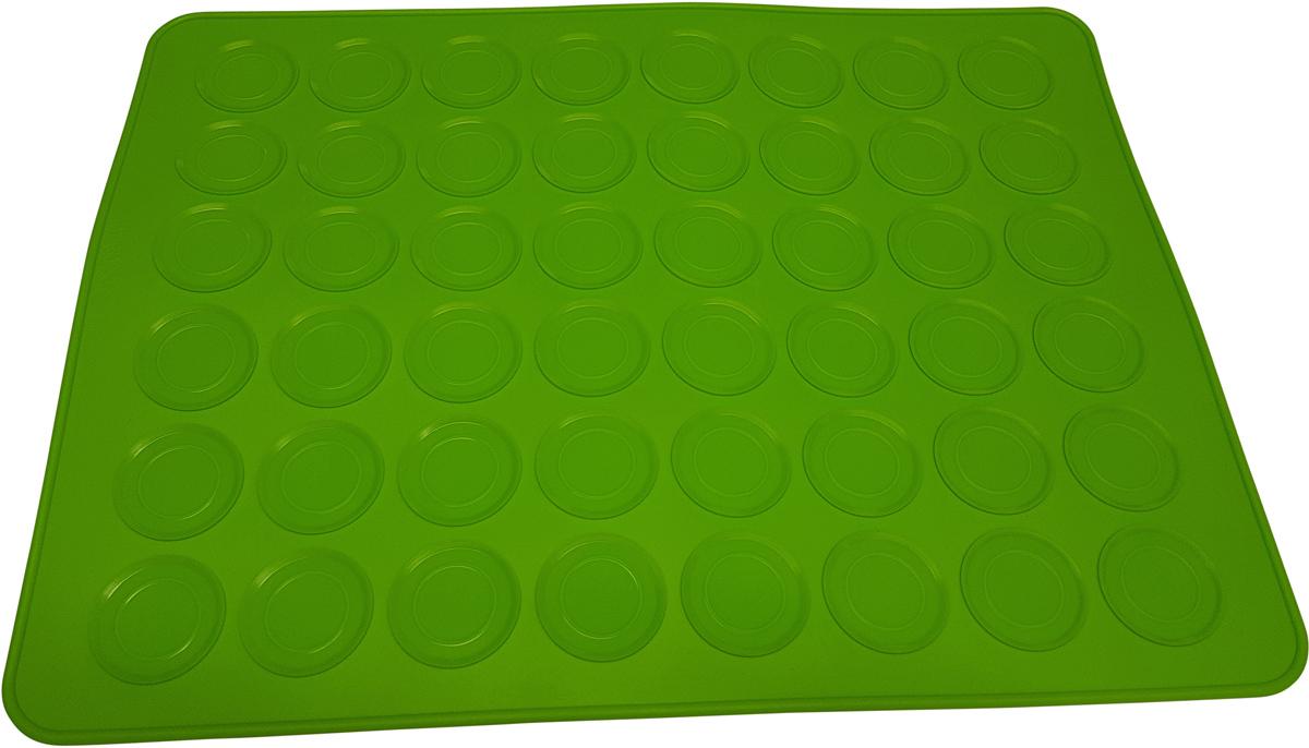 Форма для пирожного FidgetGo Макарон, цвет: зеленый, 40 х 30 см2212345678994С этой удобной силиконовой формой Вы сможете просто и легко сделать знаменитое французское кондитерское изделие «Макарон».Перед первым использованием промойте форму в горячей воде (при температуре 50 ° C) или в посудомоечной машине. Необходимо смазать форму маслом, чтобы Ваше пирожное легче снимать. Это уже не обязательно после первого использования.Следуя рецепту, просто вылейте разноцветное тесто на ячейки в силиконовую форму и запекайте в духовке.После приготовления, дайте полностью остыть, прежде чем снимать ваши «Макарон» - просто согните форму, чтобы вытащить каждую половинку пирожного.Формочка выполнена из высококачественного эластичного термоустойчивого силикона, выдерживающего температуру от -40°С до +230°С.