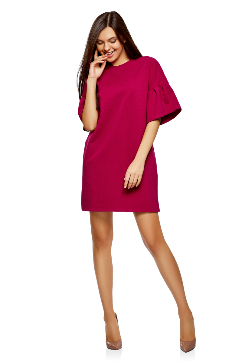 Платье oodji Ultra, цвет: ягодный. 14000172B/48033/4C00N. Размер S (44) scooter gss s2 001 n c n s larsen