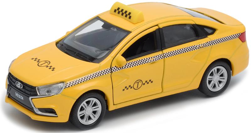 Welly Машинка LADA Vesta такси welly модель машины 1 34 39 lada granta такси