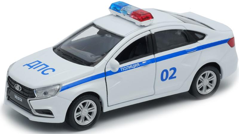 Welly Модель автомобиля LADA Vesta полиция ДПС welly модель автомобиля lada vesta пожарная охрана