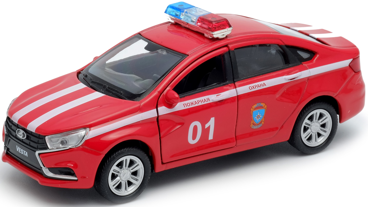 Welly Модель автомобиля LADA Vesta пожарная охрана welly модель автомобиля lada vesta пожарная охрана