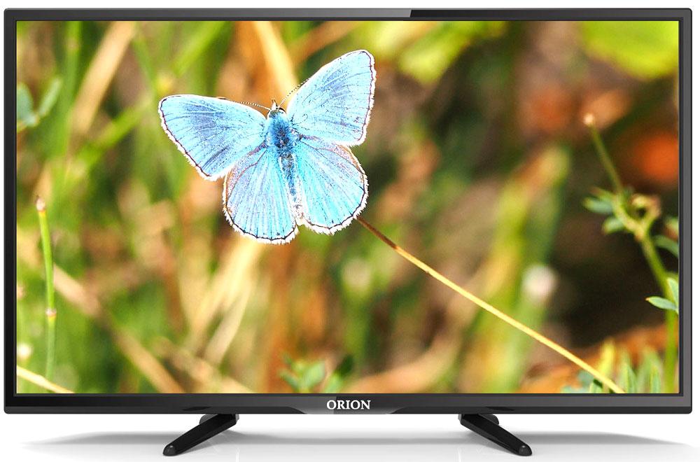 Orion ПТ-81ЖК-150ЦТ, Black телевизор11770Orion ПТ-81ЖК-150ЦТ - это многофункциональный телевизор, обладающий отличным качеством изображения. LED-подсветка обеспечивает четкость и яркость изображения, а экран обладает разрешением 1366x768пикселей, яркостью 300 кд/м2, динамической контрастностью 80000:1 и широким углом обзора (178°).Телевизор имеет функцию телетекста, таймер сна и защиту от детей. Мощность звучания аудиосистемысоставляет 12 Вт, также поддерживаются телевизионные стандарты DVB-T2/C. Телевизор оборудован USB- портом и HDMI-входом.