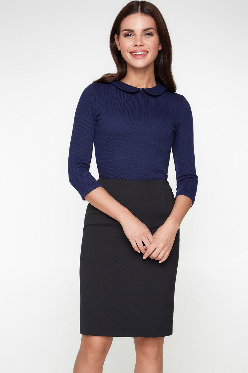 Блузка женская Bestia Vanilla1_b, цвет: темно-синий. 40010260011_600. Размер 48 брюки bestia bestia be032ewlin67