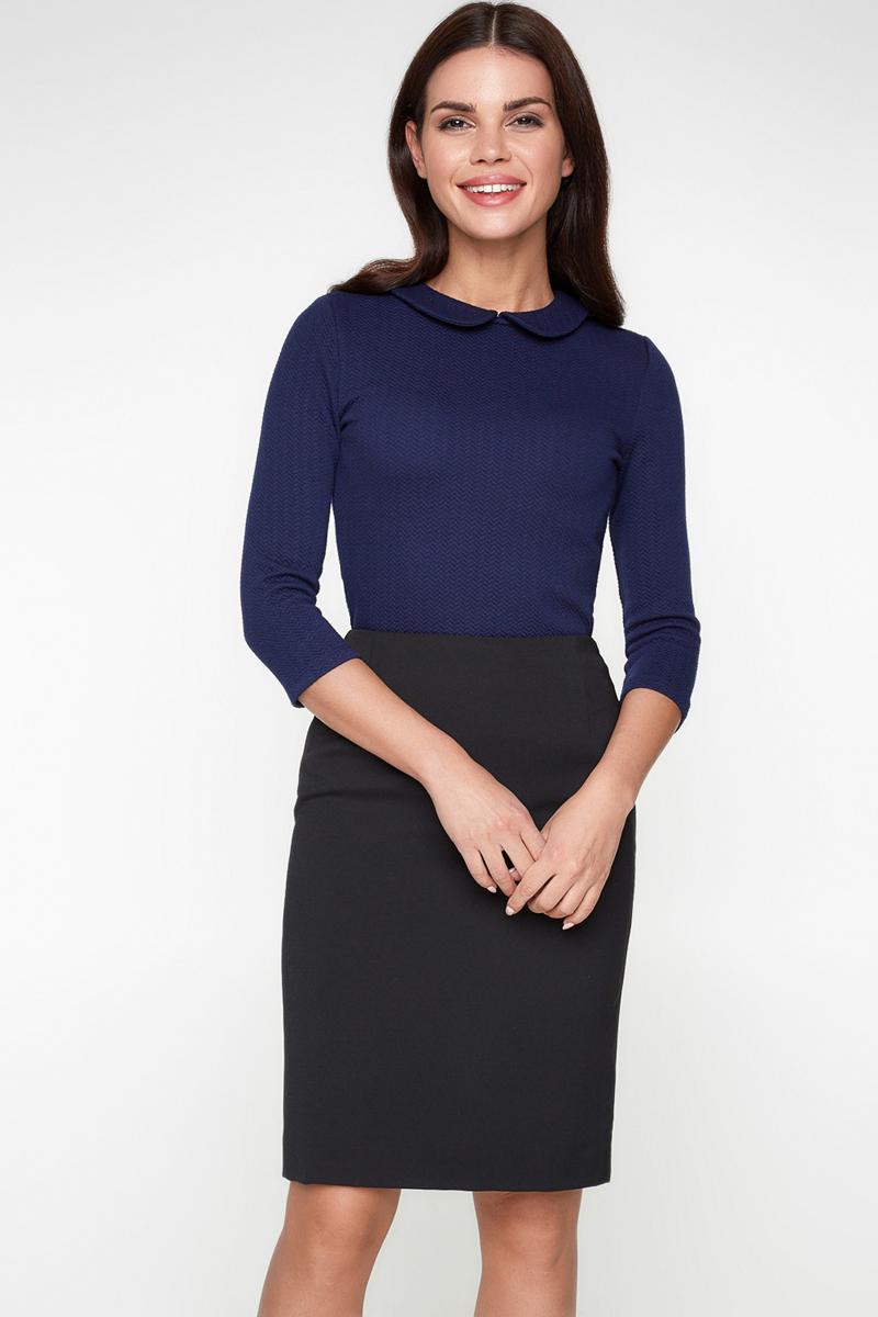 Блузка женская Bestia Vanilla1_b, цвет: темно-синий. 40010260011_600. Размер 48