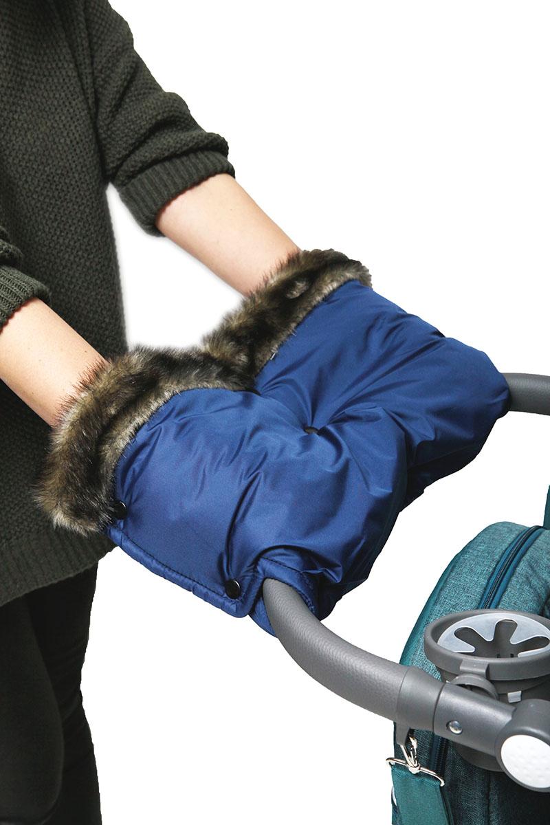 Топотушки Муфта для рук на коляску Престиж цвет синий