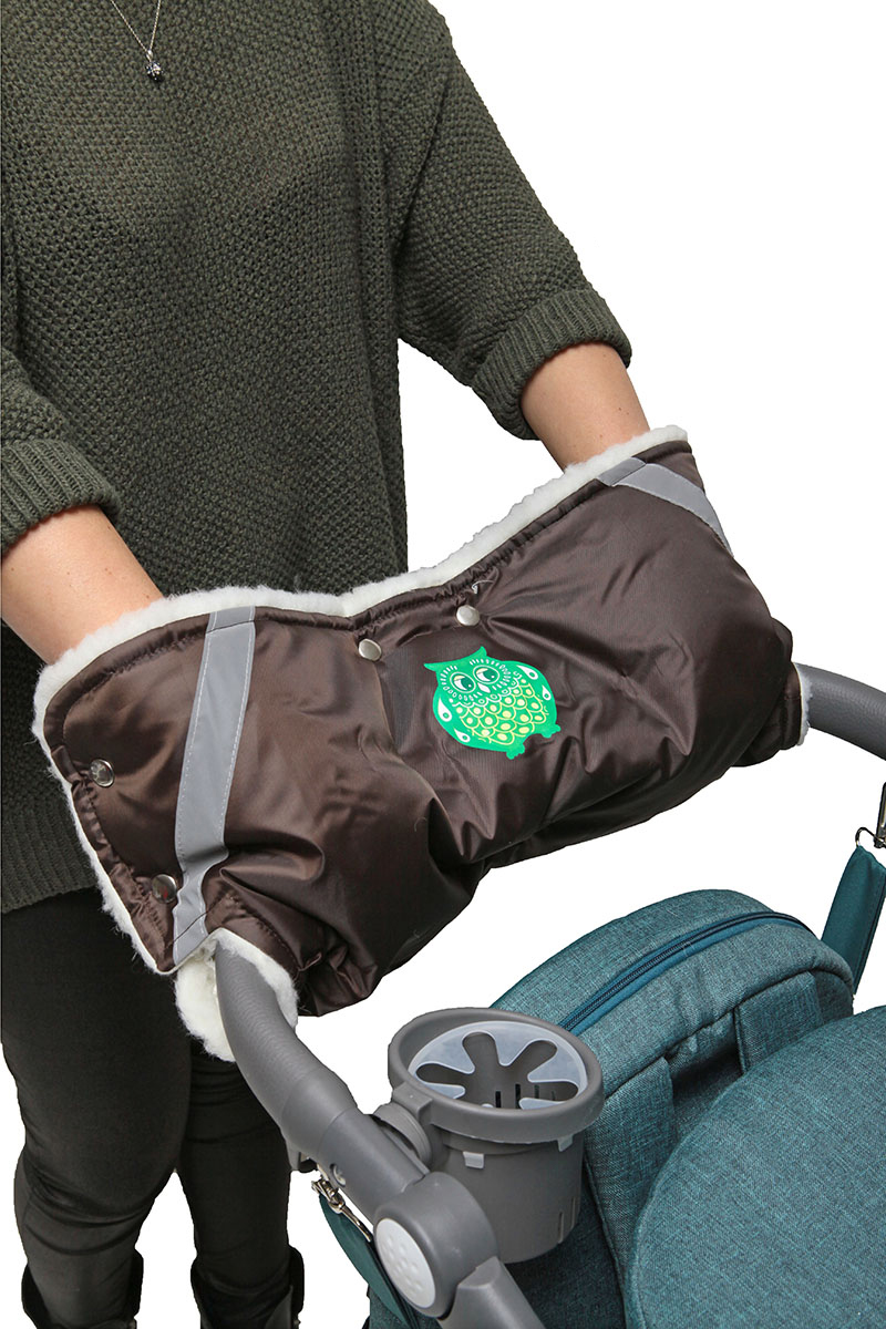 Топотушки Муфта для рук на коляску цвет коричневый