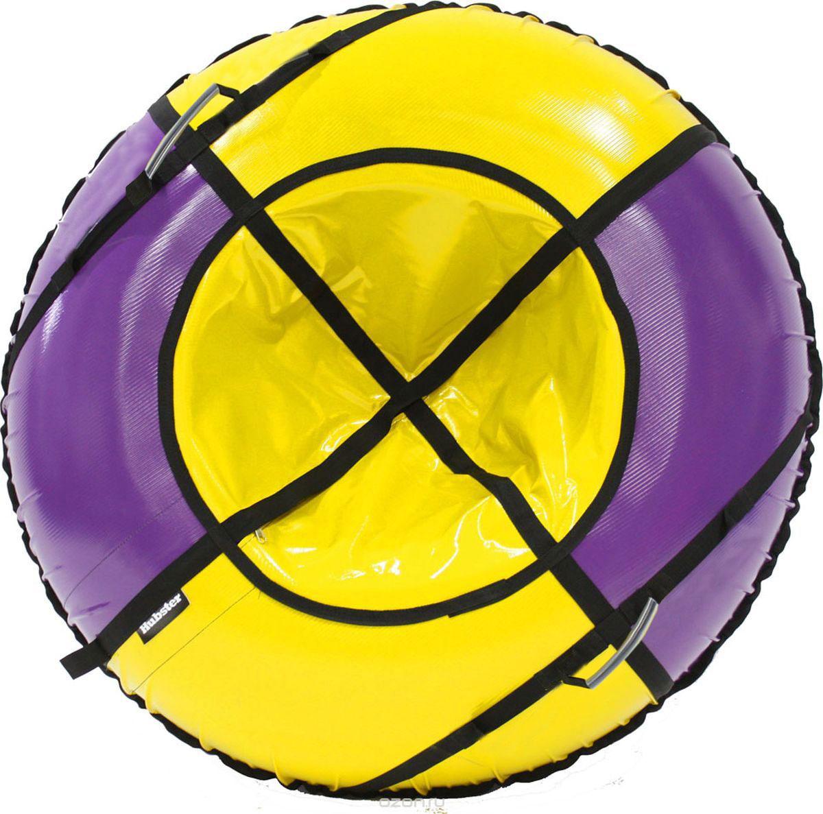 Тюбинг Hubster Sport Plus, цвет: фиолетовый, желтый, диаметр 90 смво4186-3Любимая детская зимняя забава - это кататься с горки. А катание на тюбинге надолго запомнится вам и вашим близким. Свежий воздух, веселая компания, веселые развлечения - эти моменты вы будете вспоминать еще долгое время.Материал верха - ПВХ армированный, плотность 650 г/м.Материал дна - ПВХ (усиленная скользкая ткань), плотность 650 г/м.Диаметр в сдутом виде - 90 см.Диаметр в надутом виде - 79 см.Ручки усиленные (нашиты на дополнительную стропу).Кол-во ручек - 90 см - 2 шт. Молния скрытая, на сиденье.Крепление троса - наружная петля.Длина троса - 1 метр.Нагрузка - 90 см - до 80 кг.Комплект поставки - ватрушка, трос, камера.Тюбинг не предназначен для буксировки механическими или транспортными средствами (подъемники, канатные дороги, лебедки, автомобиль, снегоход, квадроцикл и т.д.)Зимние игры на свежем воздухе. Статья OZON ГидЗимние игры на свежем воздухе. Статья OZON Гид