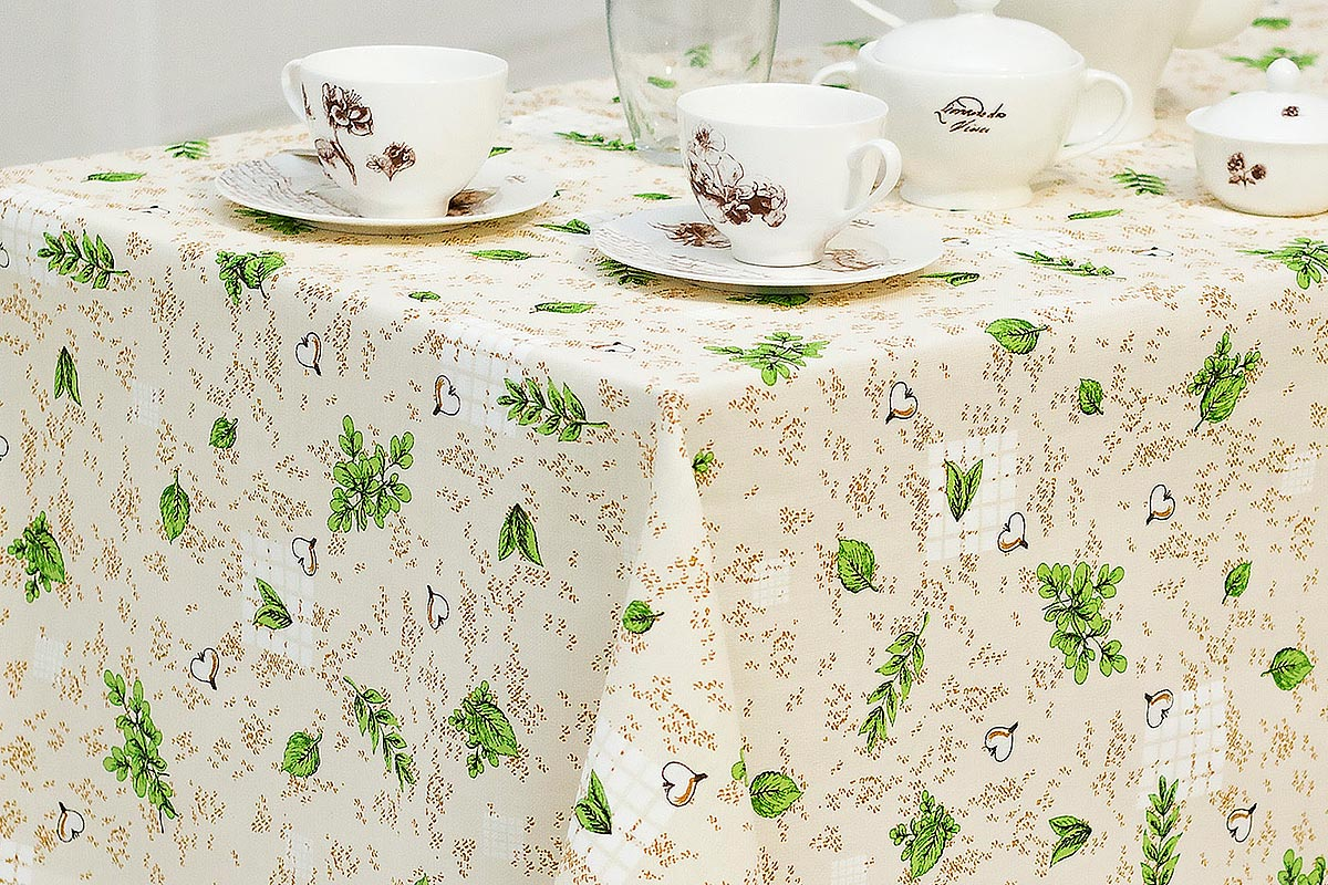 Скатерть Bonita Травы, цвет: бежевый, зеленый, коричневый, 125 х 145 см щит rucelf щмп 04 ip54