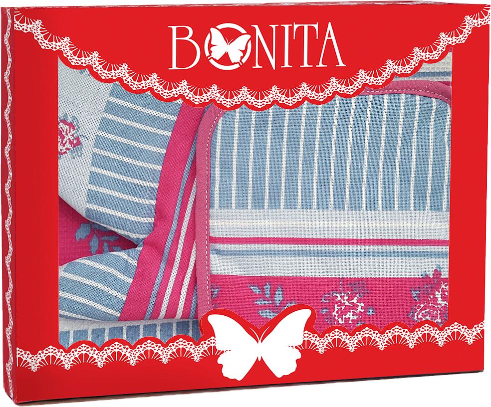 Подарочный набор для кухни Bonita Мэри Поппинс, 3 предмета рукавицы прихватки фартуки arya набор рукавица прихватка rana цвет зеленый