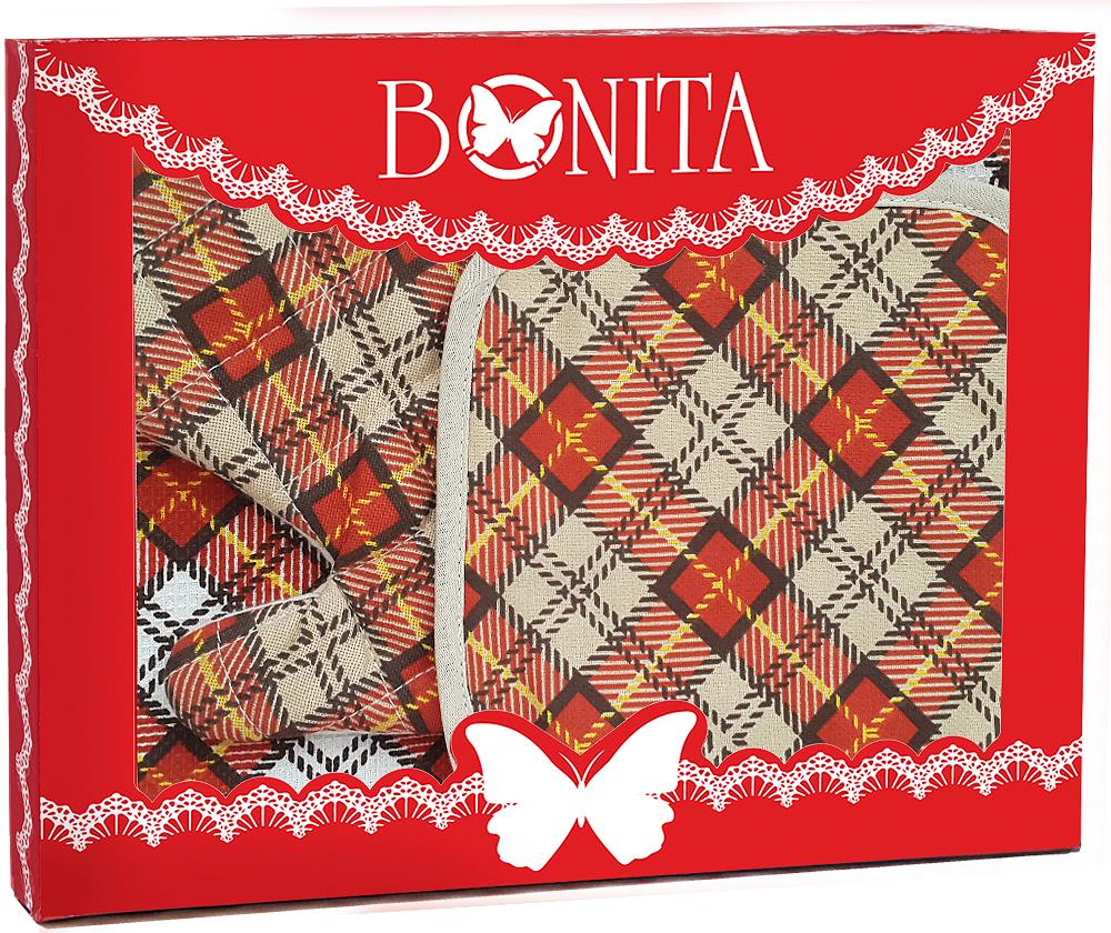 Подарочный набор для кухни Bonita Принц Уэльский, 3 предмета прихватки bonita набор аксессуаров
