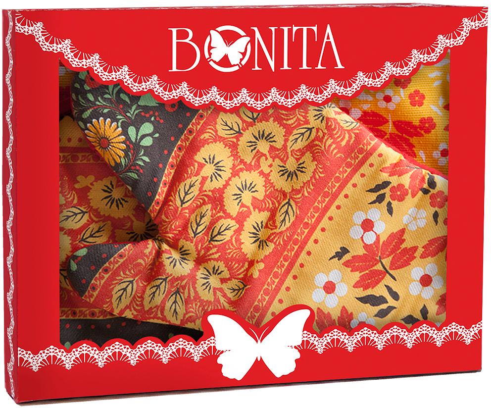 Подарочный набор для кухни Bonita Славянка, 3 предмета11010817028100% хлопокРазмер: полотенце 35*61, прихватка 18*18, рукавица 18*27