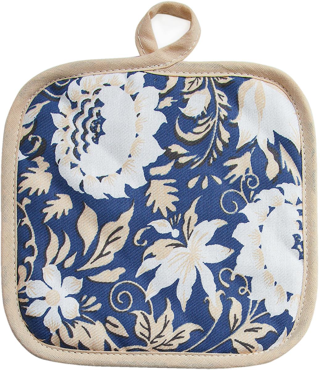 Прихватка Bonita Белые росы, 18 х 18 см полотенце кухонное bonita белые росы цвет белый бежевый 35 х 61 см