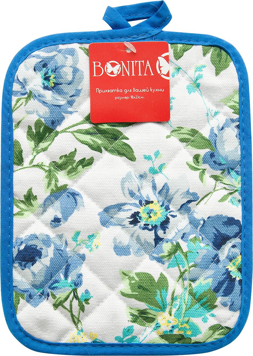 Прихватка Bonita Английская коллекция, цвет: голубой, 18 x 23 см