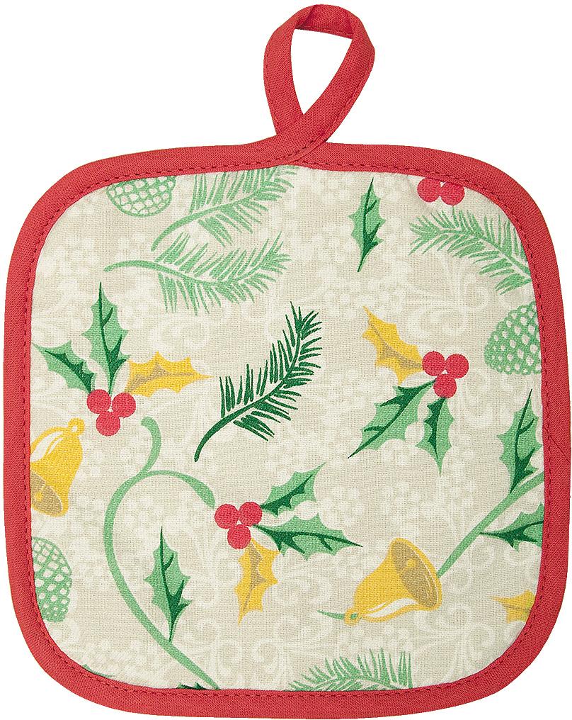 Прихватка Bonita Рождество, 18 x 18 см15010816832Прихватка Bonita выполнена из натурального хлопка и декорирована оригинальным рисунком. Изделие оснащено специальной петелькой, за которую его можно подвесить на крючок в любом удобном для вас месте. Такая прихватка красиво дополнит интерьер кухни.