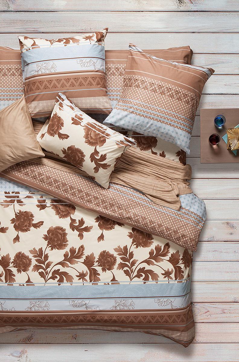 Комплект белья Sova & Javoronok  изготовлен 100% хлопка, поможет вам расслабиться и подарит спокойный сон.  Постельное белье имеет и привлекательный внешний вид, отлично стирается, гладится, быстро сохнет.    Комплект состоит из пододеяльника, простыни и двух наволочек.  Благодаря такому комплекту постельного белья, вы сможете создать атмосферу уюта и комфорта в вашей спальне.  Плотность: 120 г.