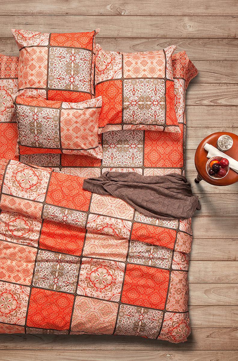 Комплект белья Sova & Javoronok Шафран, семейный, наволочки 50x70. 20308163052030816305Комплект белья Sova & Javoronokизготовлен 100% хлопка, поможет вам расслабиться и подарит спокойный сон.Постельное белье имеет и привлекательный внешний вид, отлично стирается, гладится, быстро сохнет. Благодаря такому комплекту постельного белья, вы сможете создать атмосферу уюта и комфорта в вашей спальне.Плотность: 120 г.