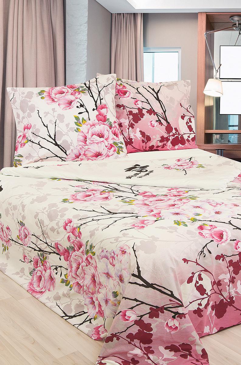 Комплект белья Sova & Javoronok Японский мотив, 1,5-спальный, наволочки 70х70, цвет: белый, розовый, черный. 203111410203111410Комплект постельного белья Sova & Javoronok Японский мотив является экологически безопасным для всей семьи, так как выполнен из бязи (100% натурального хлопка). Комплект состоит из пододеяльника, простыни и двух наволочек. Предметы комплекта оформлены оригинальным рисунком.Бязь - 100 % хлопок, хлопчатобумажная ткань полотняного переплетения без искусственных добавок. Большое количество нитей делает эту ткань более плотной, более долговечной. Высокая плотность ткани позволяет сохранить форму изделия, его первоначальные размеры и первозданный рисунок. Обладает низкой сминаемостью, легко стирается и хорошо гладится. При соблюдении рекомендуемых условий стирки, сушки и глажения ткань имеет усадку по ГОСТу, сохраняется яркость текстильных рисунков.Благодаря такому комплекту постельного белья вы сможете создать атмосферу роскоши иромантики в вашей спальне.