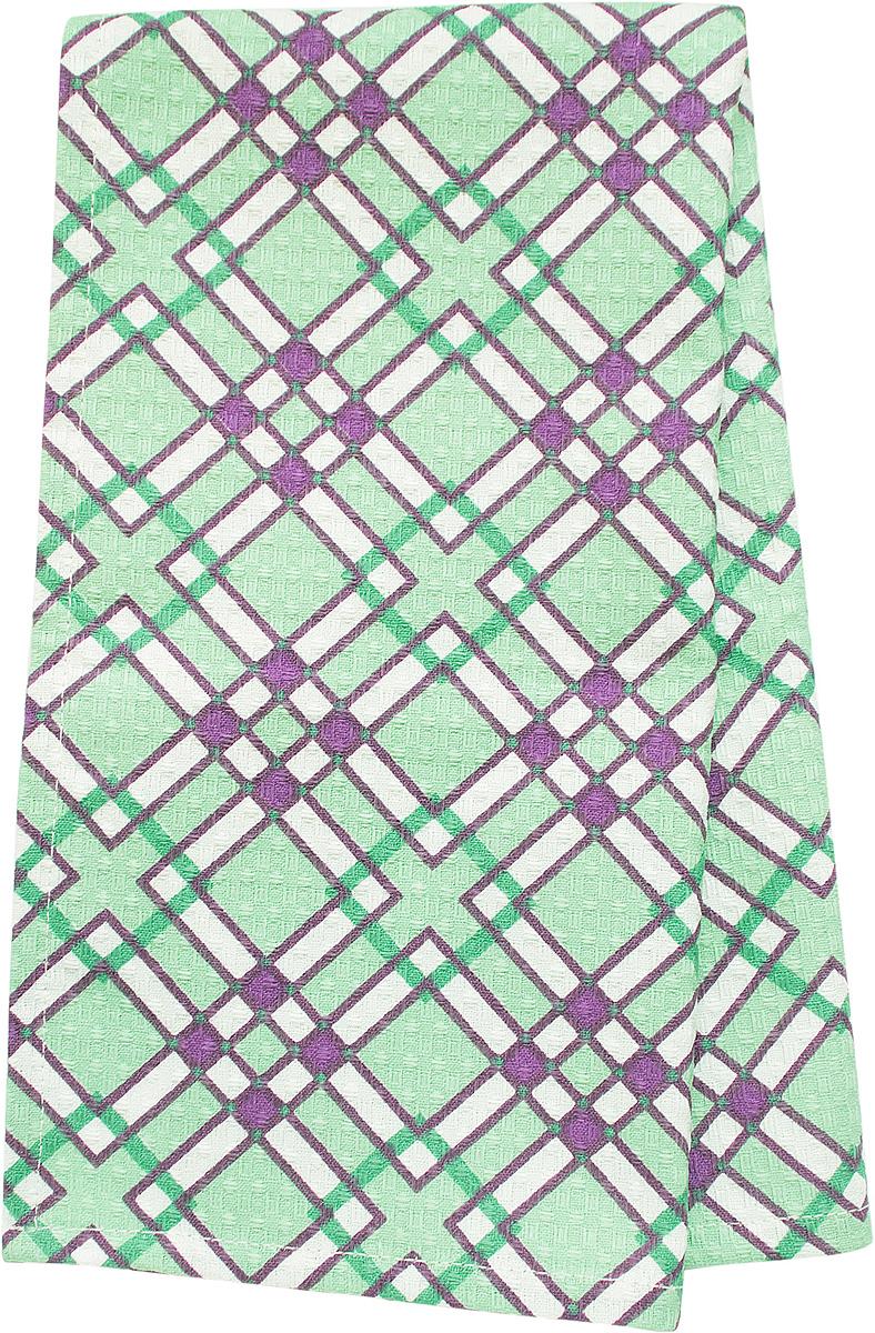 Полотенце кухонное Bonita Черничный Мохито, вафельное, 35 х 63 см полотенце для кухни арти м пасхальные традиции