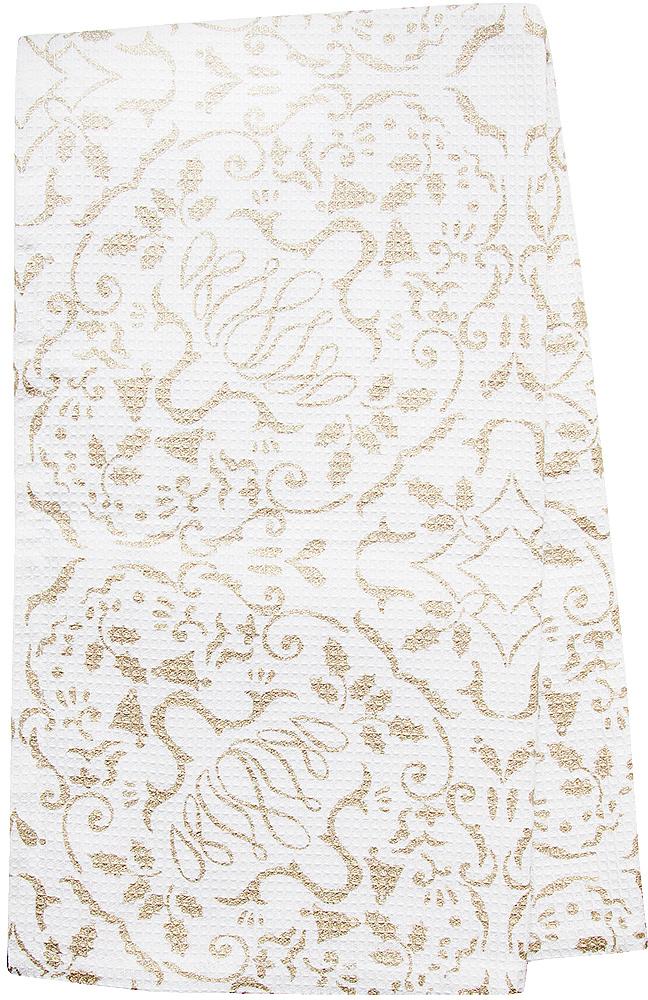 Полотенце кухонное Bonita Шампань, цвет: белый, бежевый, 35 х 65 см полотенце кухонное bonita белые росы цвет белый бежевый 35 х 61 см