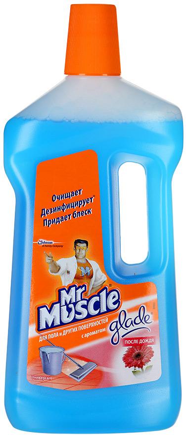 Чистящее средство для пола и других поверхностей Mr. Muscle Универсал, после дождя, 750 мл чистящее средство для стекол и других поверхностей mr muscle с нашатырным спиртом 500 мл