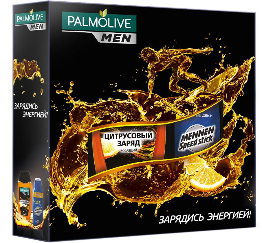 Подарочный набор Palmolive Men Заряд Энергии04135396119Гель для душа Цитрусовый заряд 250мл - 1шт, спрей Меннен Активный день 150мл - 1шт в коробке