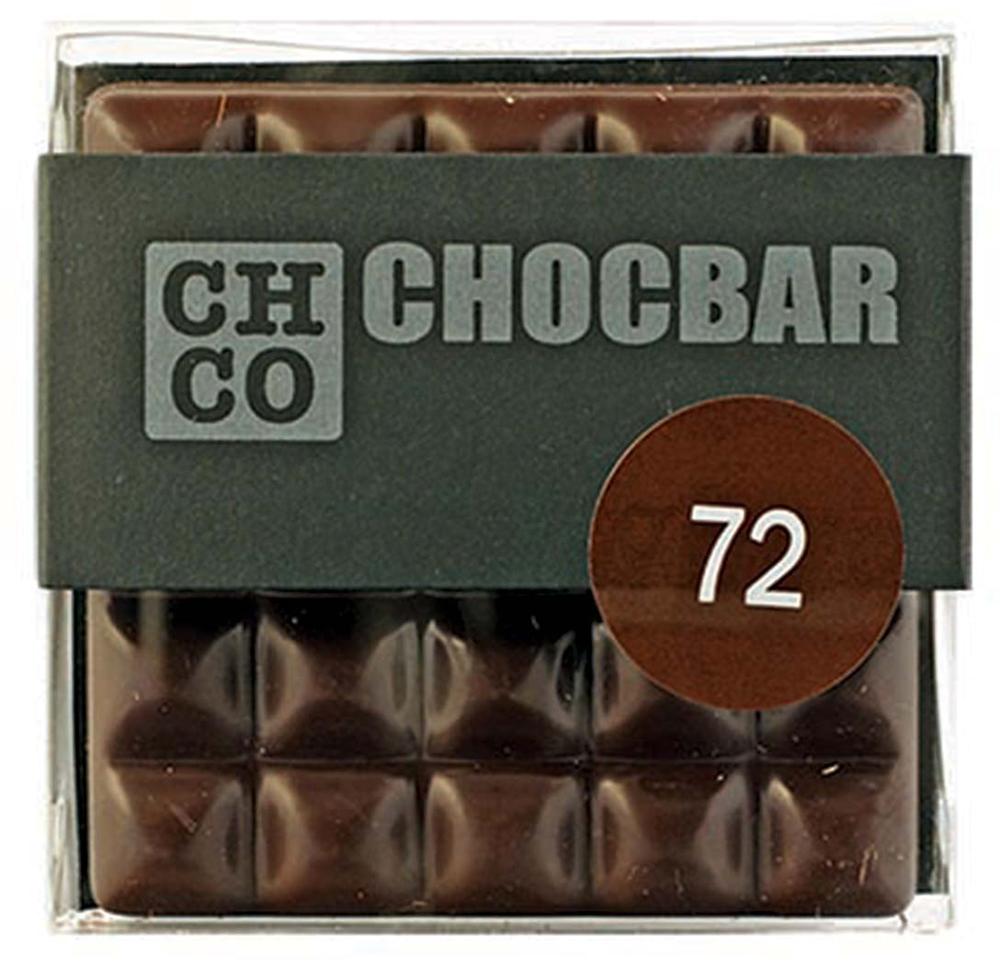 Chco Chocbar Dark 72% темный шоколад, 60 г chco chocbar milk 40% молочный шоколад 60 г