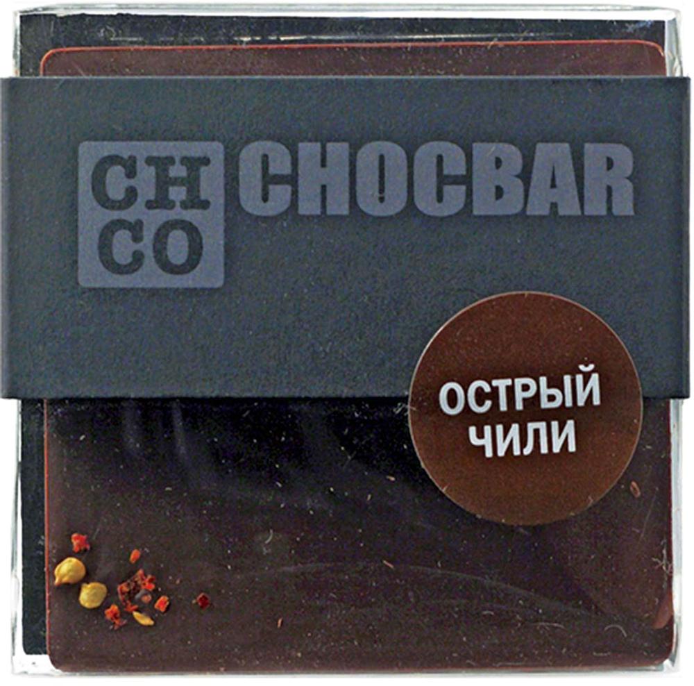Chco Chocbar Dark Острый чили темный шоколад, 60 г chco chocbar milk 40% молочный шоколад 60 г