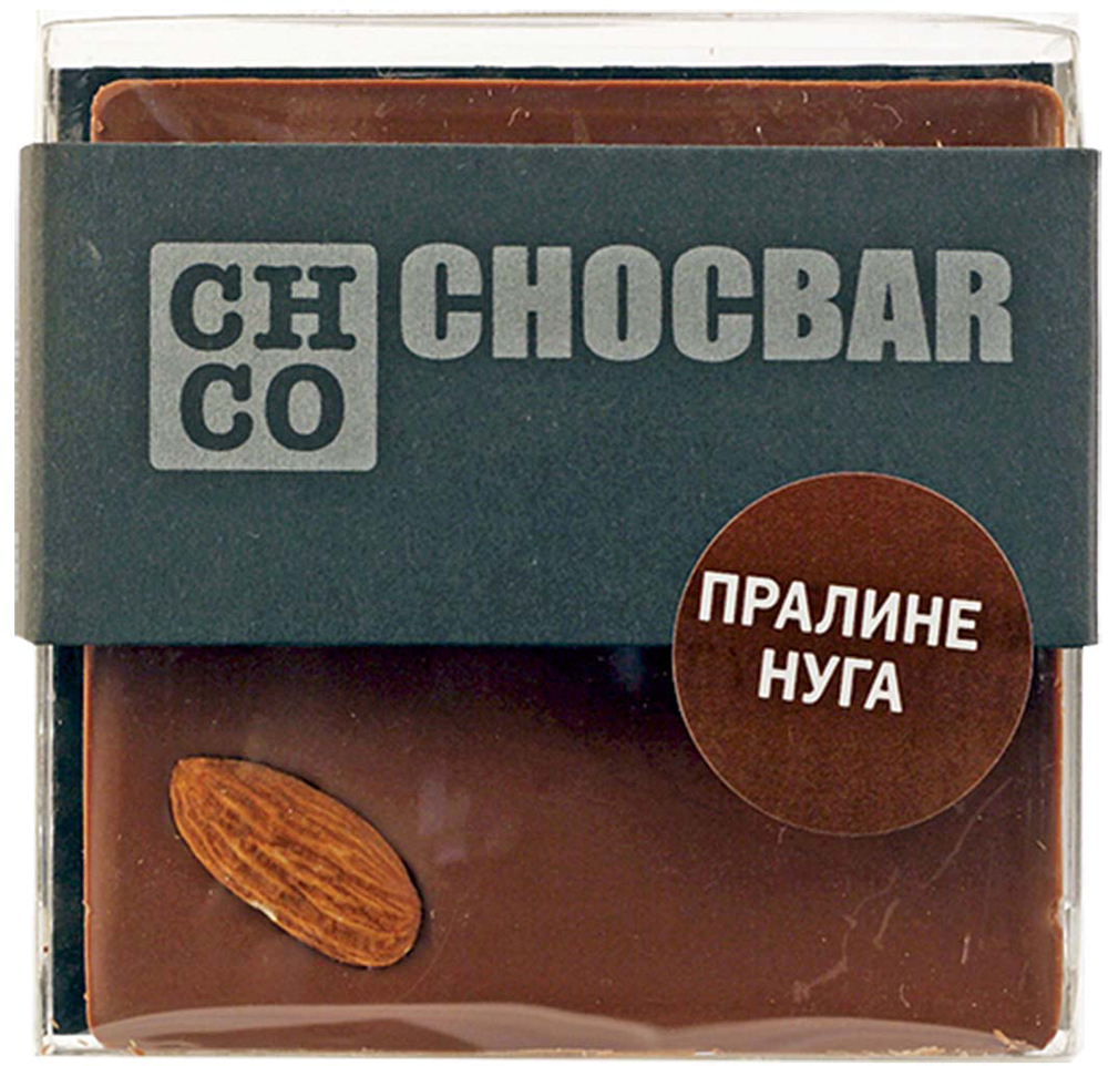 Chco Chocbar Milk Пралине Нуга молочный шоколад, 60 г chco chocbar milk 40% молочный шоколад 60 г