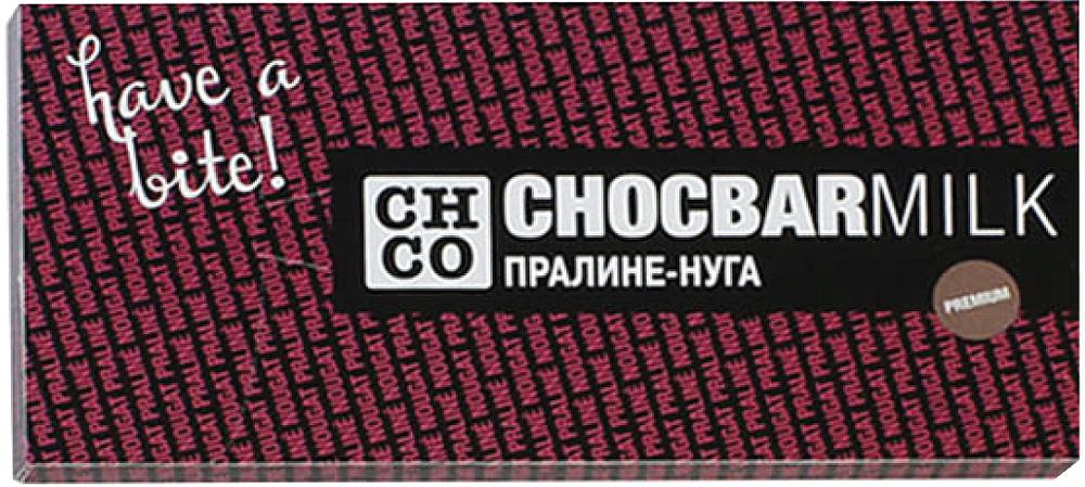 Chco Пралине - Нуга молочный шоколад, 100 г ritter sport лесной орех шоколад молочный с обжаренным орехом лещины 100 г