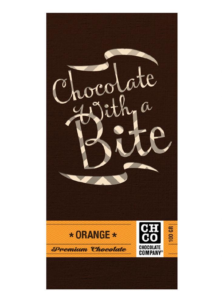 Chco Chocbar Апельсин горький шоколад, 100 г коммунарка шоколад горький трюфельный элит 200 г