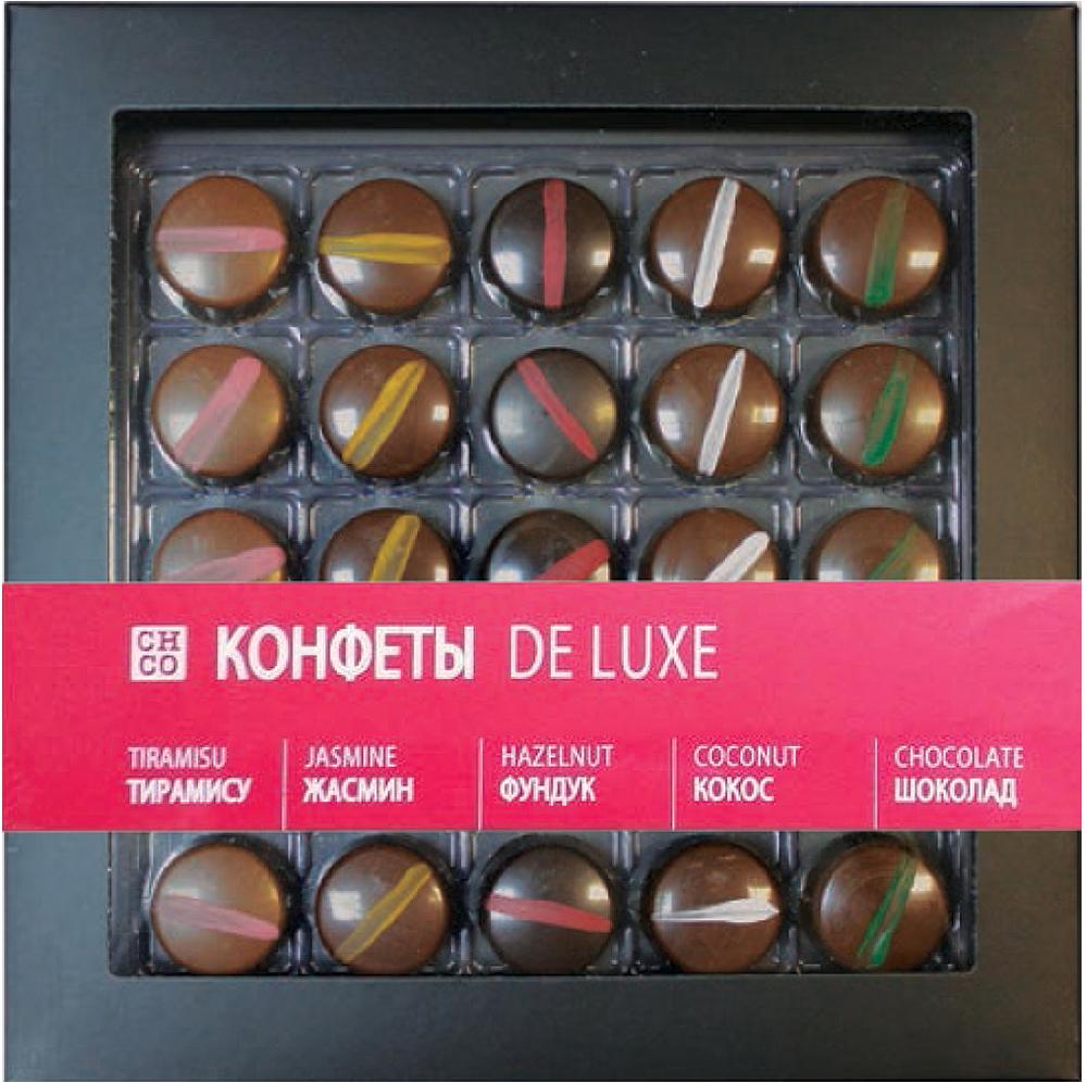 Chco De Luxe набор шоколадных конфет с начинкой, 250 г kinder mini mix подарочный набор 106 5 г