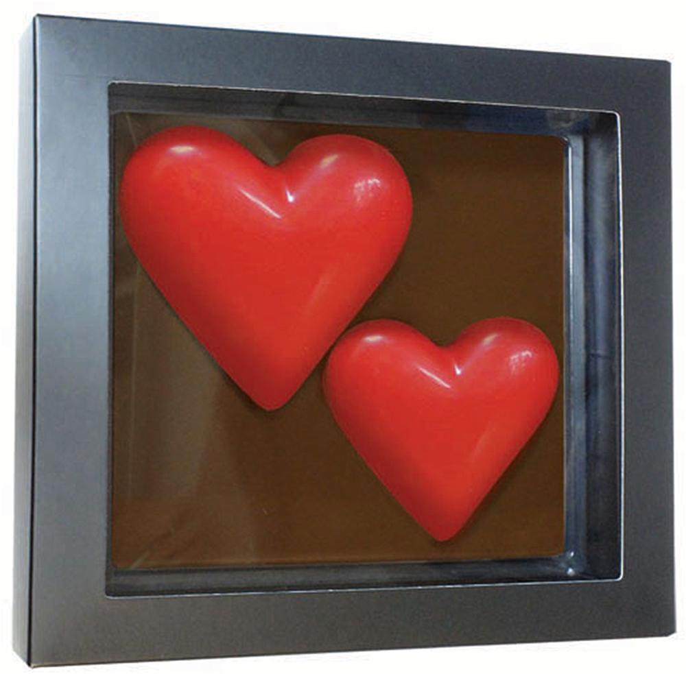 Chco Chocbar XL De Luxe Два сердца шоколад, 300 г шоколад chocbar xl luxe сердце с конфетами 380г