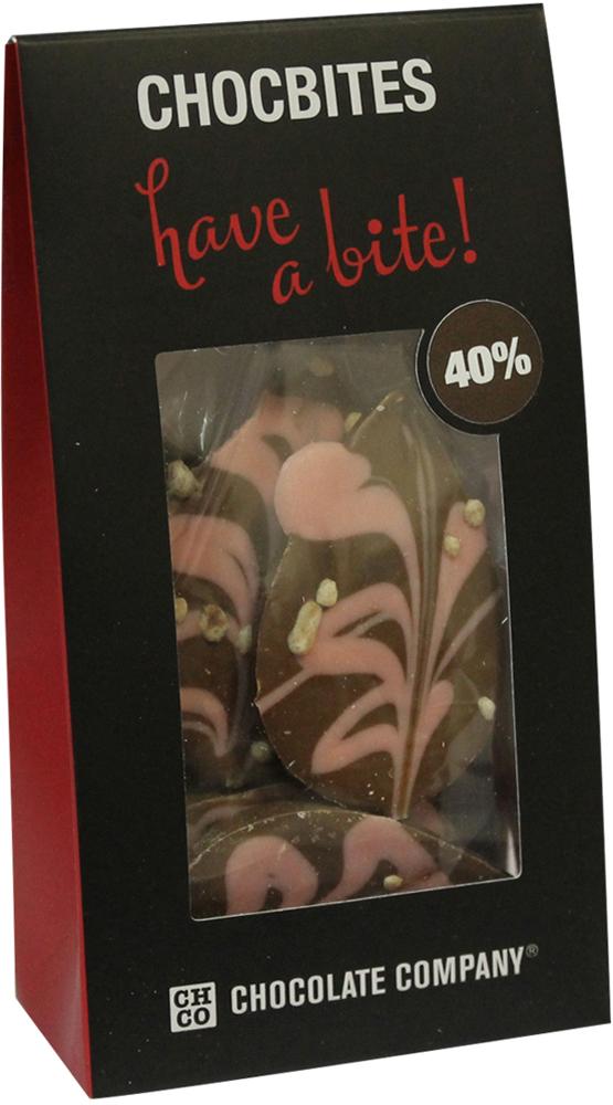 Chco Лепестки молочный дизайнерский узорный шоколад, 100 г chco chocbar карамель молочный шоколад 100 г