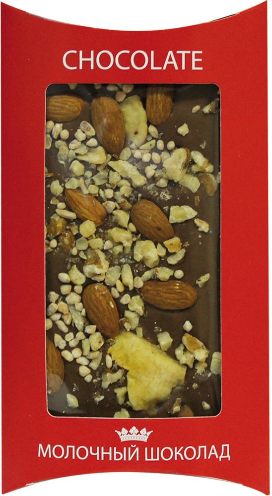 Lord молочный шоколад с орехами, 130 г молочный шоколад alkion с ирисом и морской солью 33