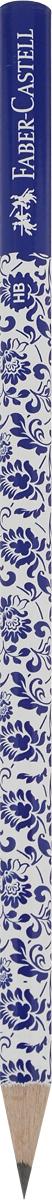 Faber-Castell Карандаш чернографитный Floral цвет корпуса белый синий119240_белый, синий/синий наконечникFaber-Castell Карандаш чернографитный Floral цвет корпуса белый синий