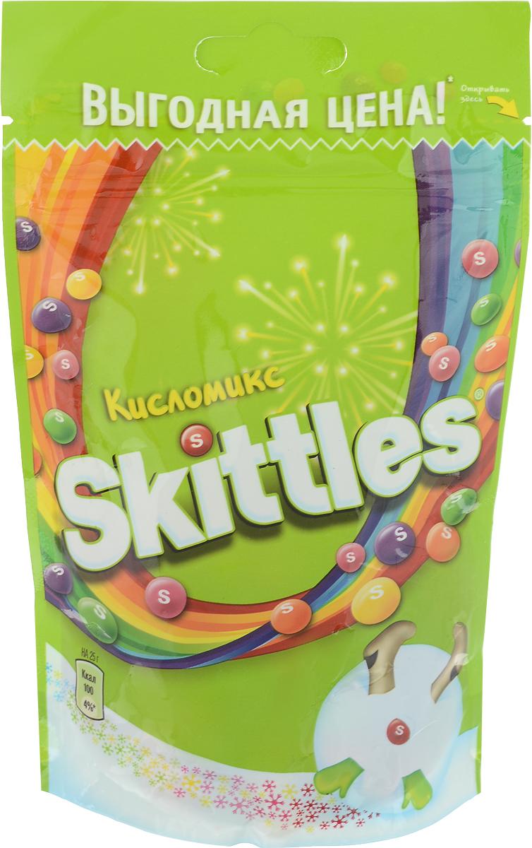 Skittles Кисломикс драже в сахарной глазури, 100 г4009900481090Жевательные конфеты Skittles Кисломикс c разноцветной глазурью предлагают радугу кислых фруктовых вкусов в каждой упаковке! Конфеты с ароматами малины, ананаса, мандарина, вишни и яблока: заразитесь радугой, попробуйте радугу!Уважаемые клиенты! Обращаем ваше внимание, что полный перечень состава продукта представлен на дополнительном изображении.Уважаемые клиенты! Обращаем ваше внимание на то, что упаковка может иметь несколько видов дизайна. Поставка осуществляется в зависимости от наличия на складе.