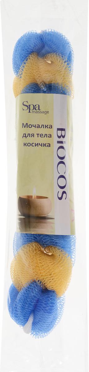 BioCos Мочалка для тела Косичка, цвет: синий, желтый5955_синий, желтыйМочалка для тела BioCos Косичка обладает тонизирующим эффектом. Подходит для ежедневного применения. Деликатно и нежно очищает кожу, легко вспенивает даже небольшое количество геля или мыла. Обладает приятным отшелушивающим эффектом, мочалка массирует кожу, снимая усталость и напряжение. Служит долго, сохраняя свою первоначальную форму.Перед использованием размочить в горячей воде. После применения тщательно промыть под струей воды и высушить.Состав: безузловая сетка.