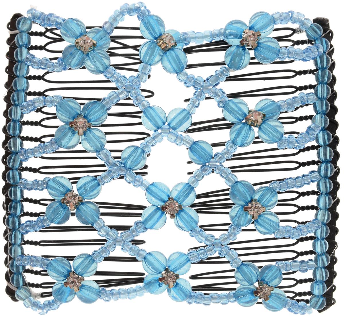 EZ-Combs Заколка Изи-Комбс, одинарная, цвет: голубой. ЗИО_стразыЗИО_голубой, стразыУдобная и практичная EZ-Combs подходит для любого типа волос: тонких, жестких, вьющихся или прямых, и не наносит им никакого вреда. Заколка не мешает движениям головы и не создает дискомфорта, когда вы отдыхаете или управляете автомобилем. Каждый гребень имеет по 20 зубьев для надежной фиксации заколки на волосах! И даже во время бега и интенсивных тренировок в спортзале EZ-Combs не падает; она прочно фиксирует прическу, сохраняя укладку в первозданном виде.Небольшая и легкая заколка для волос EZ-Combs поместится в любой дамской сумочке, позволяя быстро и без особых усилий создавать неповторимые прически там, где вам это удобно. Гребень прекрасно сочетается с любой одеждой: будь это классический или спортивный стиль, завершая гармоничный облик современной леди. И неважно, какой образ жизни вы ведете, если у вас есть EZ-Combs, вы всегда будете выглядеть потрясающе.