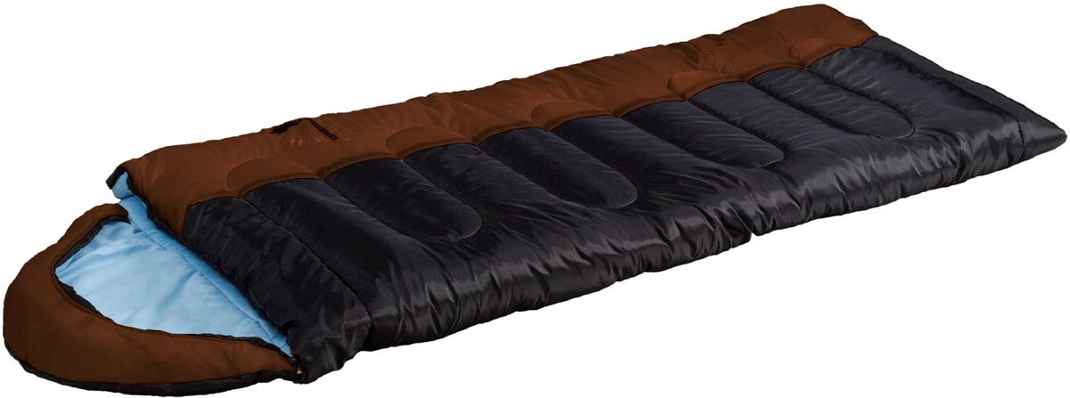 Мешок спальный Indiana Camper Extreme, правосторонняя молния, цвет: коричневый, черный, голубой, 195 х 35 х 90 см360700057Просторный спальник - одеяло с капюшоном-подголовником, выпускающийся как с левой, так и справой молнией. Благодаря этому два спальника этой модели можно состегивать друг с другом. Увеличенные размеры спального мешка и его температурные режимы - до -27С обеспечат вам комфортный отдых во время вашего пребывания на природе.