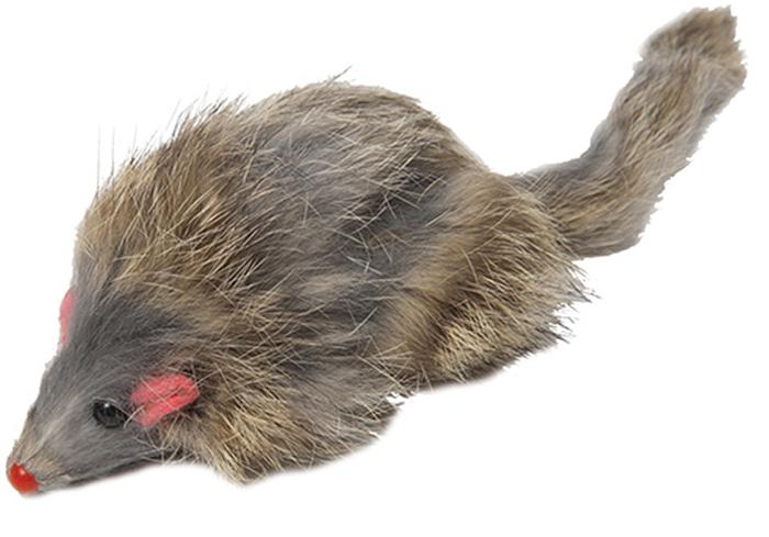 Игрушка для животных Каскад Мышь, цветная, с длинным мехом, 8 см игрушка для животных каскад гамбургер диаметр 7 5 см