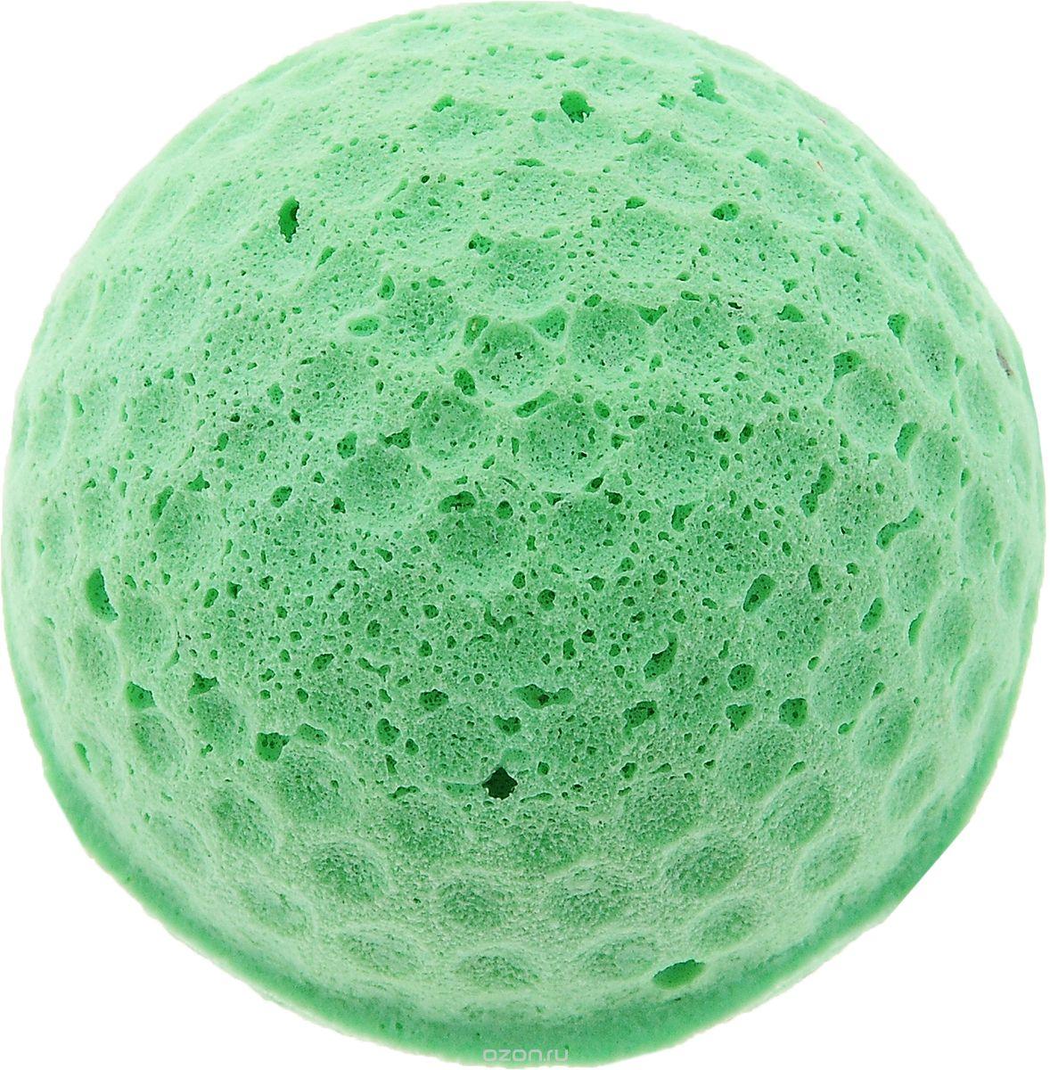 Игрушка для животных Каскад Мячик зефирный. Гольф, цвет: мятный, черный, диаметр 4 см игрушка для животных каскад мячик пробковый цвет зеленый 3 5 см