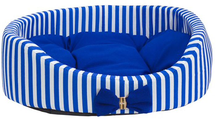 Лежак для животных Каскад Марин, цвет: синий, белый, 55 х 44 х 15 смPPMCCЯркий мягкий лежак в форме круга несомненно понравится вашему питомцу. Ему будет очень уютно в нем.