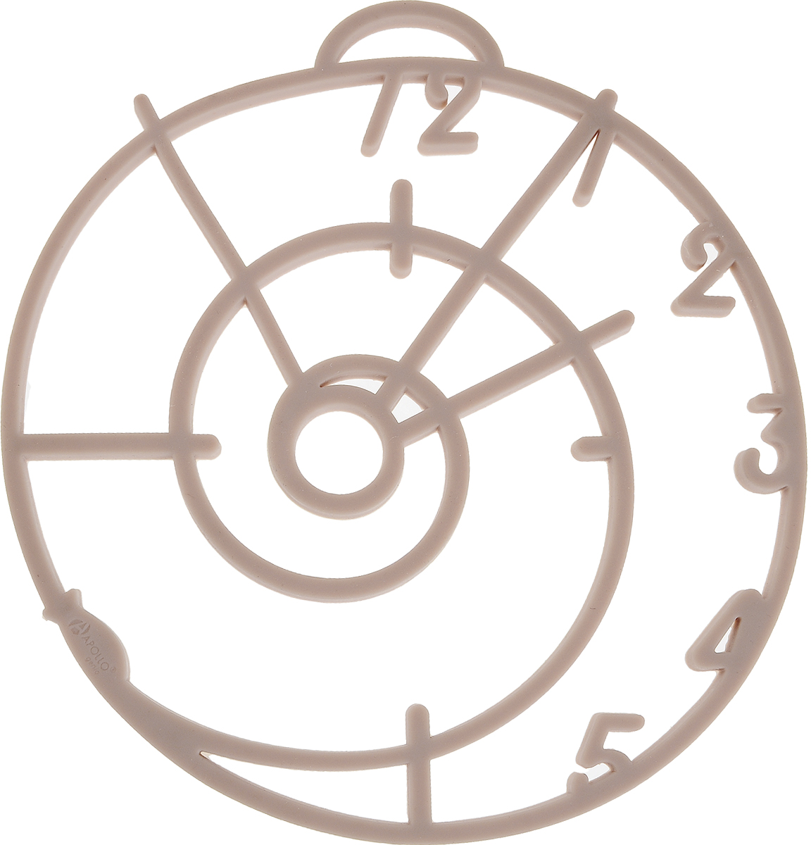 Подставка под горячее Apollo Genio Five minutes, цвет: бежевыйFVM-01Подставка под горячее Apollo Genio Five minutes изготовлена из силикона, современного и комфортного материала, который приятен на ощупь и легко моется. Изделие предназначено для защиты кухонных поверхностей от высокой температуры. Подставка прекрасно подойдет для самых различных кастрюль, тарелок, сковородок и форм для выпечки.Плюсы подставки:- температурный диапазон использования: от - 40 °С до + 240 °С,- невозможно разбить,- не деформируется при хранении в свернутом виде,- долго сохраняет свой первоначальный вид,- не выделяет вредных веществ при нагревании или охлаждении,- не впитывает запахи, не скользит.Уход:- рекомендуется ручная мойка,- не использовать при мытье абразивные моющие средства,- не ставить изделие на открытый огонь или разогретую электрическую конфорку.Размеры: 17,6 х 19 х 0,5 см.