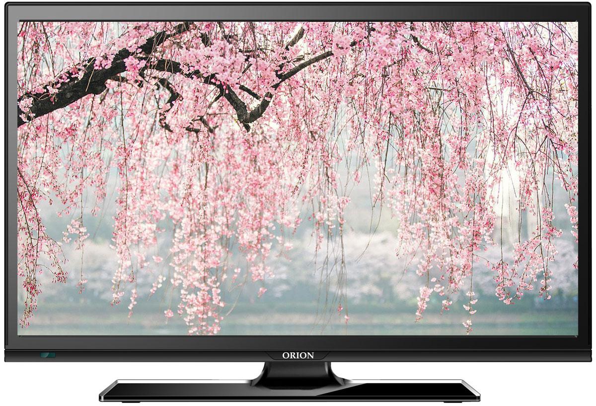 Orion ПТ-55ЖК-140ЦT, Black телевизор11772Orion ПТ-55ЖК-140ЦT - это многофункциональный телевизор, обладающий отличным качеством изображения. LED-подсветка обеспечивает четкость и яркость изображения, а экран обладает разрешением 1920x1080 пикселей, яркостью 240 кд/м2, динамической контрастностью 60000:1 и широким углом обзора (170°).Телевизор имеет функцию телетекста, таймер сна и защиту от детей. Мощность звучания аудиосистемы составляет 6 Вт, также поддерживаются телевизионные стандарты DVB-T2/C. Телевизор оборудован USB-портом и HDMI-входом. Как выбрать телевизор – статья на OZON Гид.
